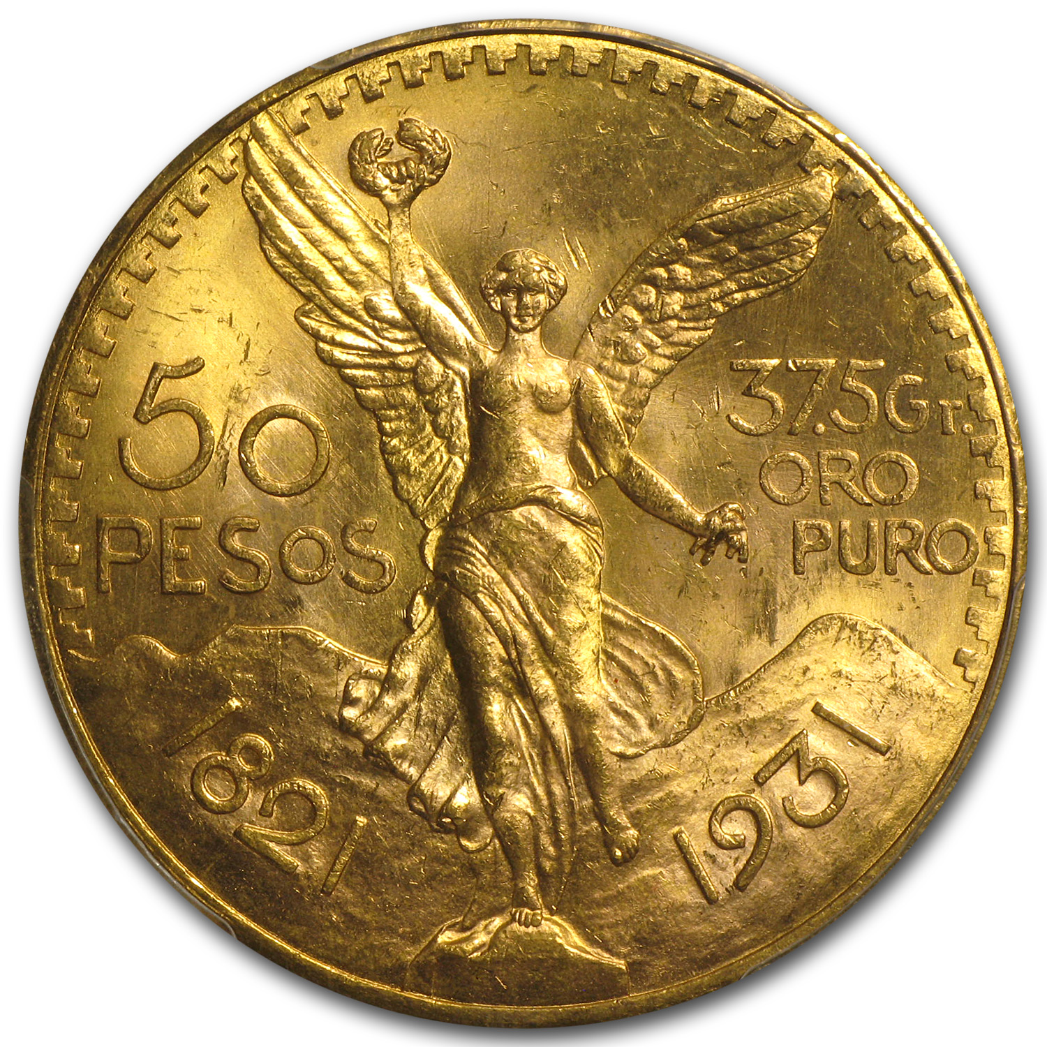 1931 Mexico Gold 50 Pesos MS-64+ PCGS